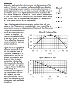 NGSS Physics: 1-D Motion - Kinematics